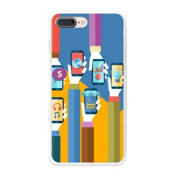 Funda Gel Tpu para Iphone 7 Plus / 8 Plus Diseño Apps Dibujos