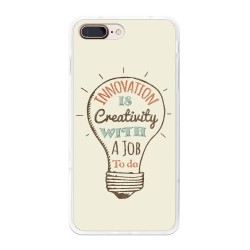 Funda Gel Tpu para Iphone 7 Plus / 8 Plus Diseño Creativity Dibujos