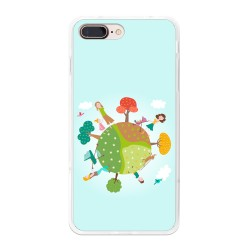 Funda Gel Tpu para Iphone 7 Plus / 8 Plus Diseño Familia Dibujos