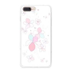 Funda Gel Tpu para Iphone 7 Plus / 8 Plus Diseño Flores-Minimal Dibujos