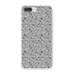 Funda Gel Tpu para Iphone 7 Plus / 8 Plus Diseño Letras Dibujos