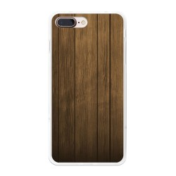 Funda Gel Tpu para Iphone 7 Plus / 8 Plus Diseño Madera Dibujos
