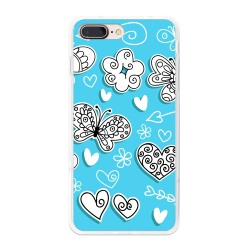 Funda Gel Tpu para Iphone 7 Plus / 8 Plus Diseño Mariposas Dibujos