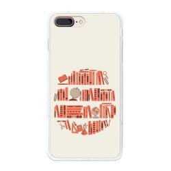 Funda Gel Tpu para Iphone 7 Plus / 8 Plus Diseño Mundo-Libro Dibujos