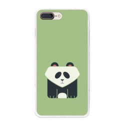 Funda Gel Tpu para Iphone 7 Plus / 8 Plus Diseño Panda Dibujos