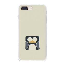 Funda Gel Tpu para Iphone 7 Plus / 8 Plus Diseño Pinguino Dibujos