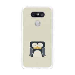Funda Gel Tpu para Lg G5 Diseño Pingüino Dibujos