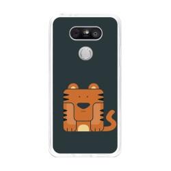Funda Gel Tpu para Lg G5 Diseño Tigre Dibujos
