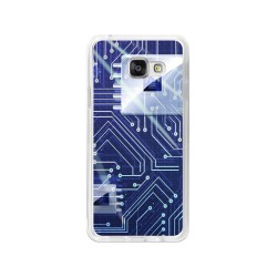 Funda Gel Tpu para Samsung Galaxy A3 (2016) Diseño Circuito Dibujos