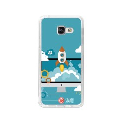Funda Gel Tpu para Samsung Galaxy A3 (2016) Diseño Cohete Dibujos