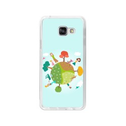 Funda Gel Tpu para Samsung Galaxy A3 (2016) Diseño Familia Dibujos
