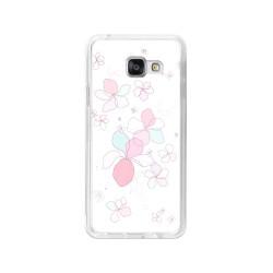 Funda Gel Tpu para Samsung Galaxy A3 (2016) Diseño Flores-Minimal Dibujos