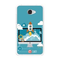 Funda Gel Tpu para Vodafone Smart Ultra 7 Diseño Cohete Dibujos