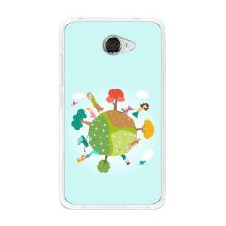 Funda Gel Tpu para Vodafone Smart Ultra 7 Diseño Familia Dibujos