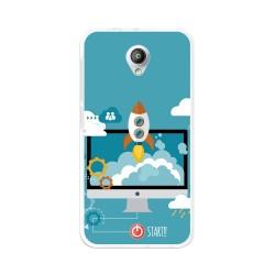 Funda Gel Tpu para Vodafone Smart Prime 7 Diseño Cohete Dibujos