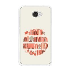 Funda Gel Tpu para Vodafone Smart Ultra 7 Diseño Mundo-Libro Dibujos