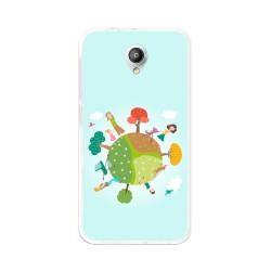 Funda Gel Tpu para Vodafone Smart Prime 7 Diseño Familia Dibujos