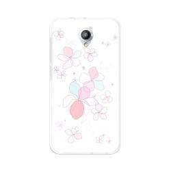 Funda Gel Tpu para Vodafone Smart Prime 7 Diseño Flores-Minimal Dibujos