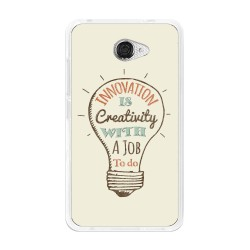 Funda Gel Tpu para Vodafone Smart Ultra 7 Diseño Creativity Dibujos
