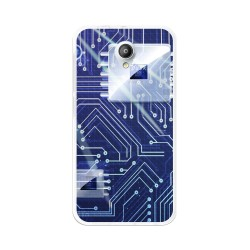 Funda Gel Tpu para Vodafone Smart Prime 7 Diseño Circuito Dibujos