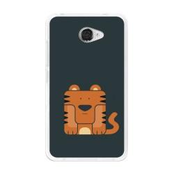 Funda Gel Tpu para Vodafone Smart Ultra 7 Diseño Tigre Dibujos