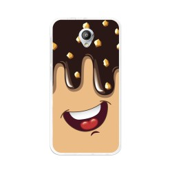 Funda Gel Tpu para Vodafone Smart Prime 7 Diseño Helado Chocolate  Dibujos