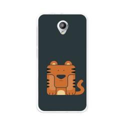 Funda Gel Tpu para Vodafone Smart Prime 7 Diseño Tigre Dibujos