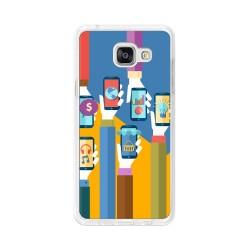 Funda Gel Tpu para Samsung Galaxy A5 (2016) Diseño Apps Dibujos