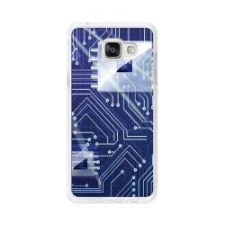Funda Gel Tpu para Samsung Galaxy A5 (2016) Diseño Circuito Dibujos