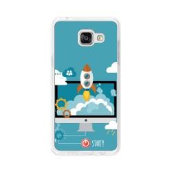 Funda Gel Tpu para Samsung Galaxy A5 (2016) Diseño Cohete Dibujos