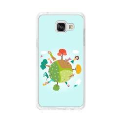 Funda Gel Tpu para Samsung Galaxy A5 (2016) Diseño Familia Dibujos
