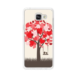 Funda Gel Tpu para Samsung Galaxy A5 (2016) Diseño Pajaritos Dibujos