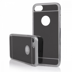 Funda Gel Tpu Efecto Espejo Gris para Iphone 7 Plus / 8 Plus