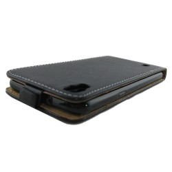 Funda Piel Premium Negra Ultra-Slim para Lg X Power