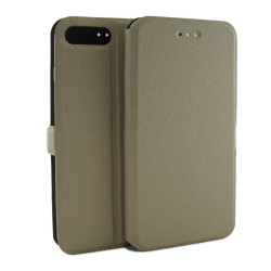 Funda Soporte Piel Dorada para Iphone 7 Plus / 8 Plus Flip Libro