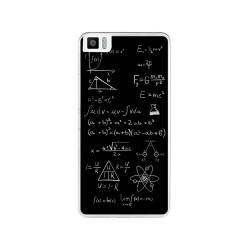 Funda Gel Tpu para Bq Aquaris M4.5 Diseño Formulas Dibujos