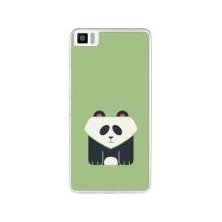 Funda Gel Tpu para Bq Aquaris M4.5 Diseño Panda Dibujos