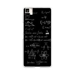 Funda Gel Tpu para Bq Aquaris M5 Diseño Formulas Dibujos