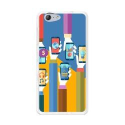 Funda Gel Tpu para Orange Neva 80 / Zte Blade V770 Diseño Apps Dibujos