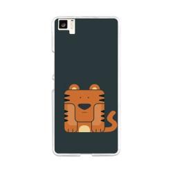 Funda Gel Tpu para Bq Aquaris M5 Diseño Tigre Dibujos