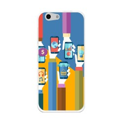 Funda Gel Tpu para Orange Dive 71 / Zte Blade A506 Diseño Apps Dibujos