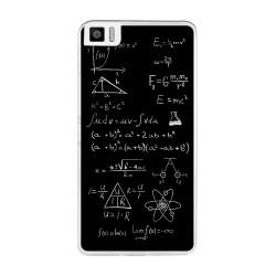 Funda Gel Tpu para Bq Aquaris M2017 / M5.5 Diseño Formulas Dibujos