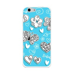 Funda Gel Tpu para Orange Dive 71 / Zte Blade A506 Diseño Mariposas Dibujos