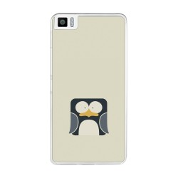 Funda Gel Tpu para Bq Aquaris M2017 / M5.5 Diseño Pingüino Dibujos