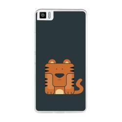 Funda Gel Tpu para Bq Aquaris M2017 / M5.5 Diseño Tigre Dibujos