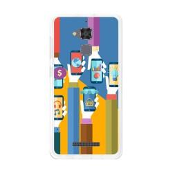 Funda Gel Tpu para Asus Zenfone 3 Max Zc520Tl Diseño Apps Dibujos