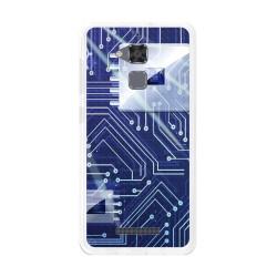 Funda Gel Tpu para Asus Zenfone 3 Max Zc520Tl Diseño Circuito Dibujos