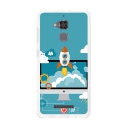 Funda Gel Tpu para Asus Zenfone 3 Max Zc520Tl Diseño Cohete Dibujos