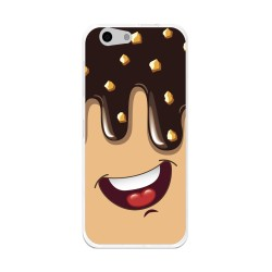 Funda Gel Tpu para Orange Dive 71 / Zte Blade A506 Diseño Helado Chocolate Dibujos