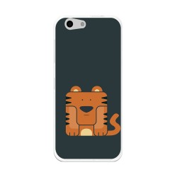 Funda Gel Tpu para Orange Dive 71 / Zte Blade A506 Diseño Tigre Dibujos